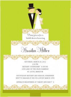 Layered Wedding Cake Bridal To Be Invitations HPB159 [HPB159]