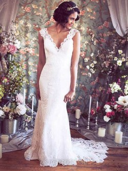 Romantic Beach Wedding Dresses UK – dressfashion.co.uk