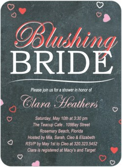 Sweetheart Blackboard Bridal Shower Invitation Card HPB121 [HPB121]