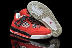 Nike Air Jordan 4 Shoes Kid's Grade Aaa Red Black Grey 1V5EPV,Cheap Jordans For Kids,Nike  ...