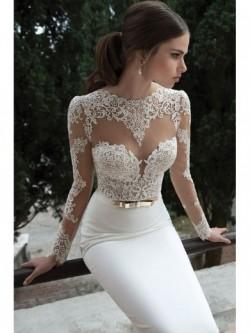 Släp Spetsar Bröllopsklänningar