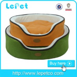 Factory wholesale soft warm cozy round luxury memory foam dog pet bed