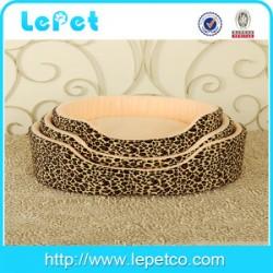 Christmas sales Leopard print warm cozy luxury fuzzy pet bed fleece pet bed