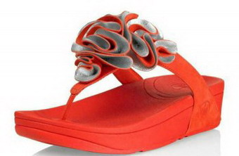 The Latest Styles Fitflops Frou Flower Sandals Orange Womens experience unusual outlook
