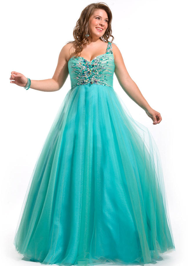 US$159.99 2015 One Shoulder Green Tulle Purple Floor Length Crystals Lace Up Sleeveless