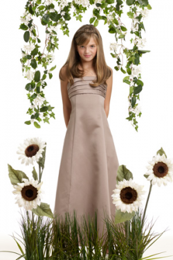 US$101.99 2015 Satin Strapless Ruched Sleeveless Floor Length