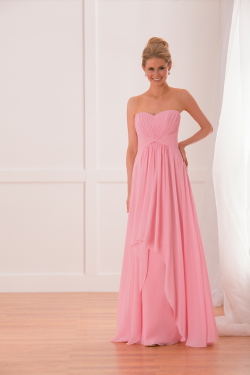 US$137.99 2015 Zipper Up Sweetheart Chiffon Sleeveless Pink Floor Length