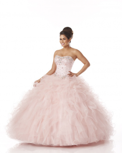 US$228.99 2015 Floor Length Pink Lace Up Strapless Ruffled Crystals Tulle Sleeveless Ruched