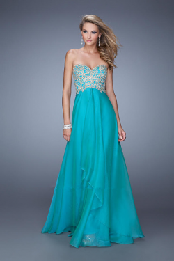 US$156.99 2015 Red Sweetheart Blue Chiffon Ruched Black Appliques Sleeveless Zipper Floor Length