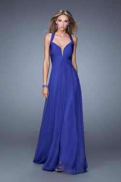 US$157.99 2015 Straps Blue Criss Cross Floor Length Sleeveless Chiffon Ruched Red