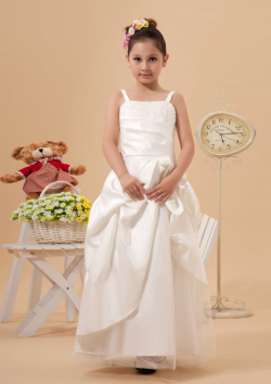 US$105.99 2015 Taffeta Ruched Floor Length Ivory Zipper Straps Sleeveless