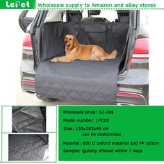 Best selling on amazon store manufacturer wholesale pet cargo cover for SUV Dog Cargo Liners