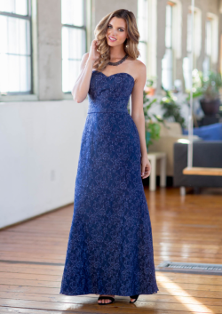 US$134.99 2015 Ruched Navy Sweetheart Ankle Length Chiffon Lace Sleeveless