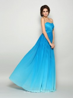 A-Line/Princess Sweetheart Sleeveless Chiffon Floor-Length Pleats Dresses – Prom Dresses & ...