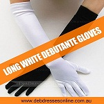 Long White Debutante Gloves