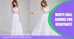 White Ball Gowns For Debutante