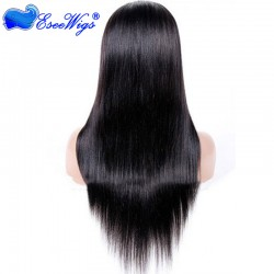 Full Lace Wigs Liaght Yaki 100% Human Hair Peruvian Remy Hair Swiss Lace For Black Women With Ba ...