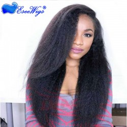 Affordable Full Lace Human Hair Wigs Kinky Straight Virgin Brazilian Human Hair