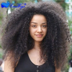 Wholesale Afro Kinky Curly Full Lace Wigs Brazilian Human Hair Wigs For Black Women