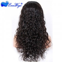 Loose Curl Full Lace Wigs Indian Remy Hair 100% Human Hair Wigs Natural Hair With Baby Hair Line