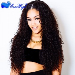 250% High Density Deep Curly Wigs Full Lace Human Hair Wigs 7A Brazilian Hair for Black Women