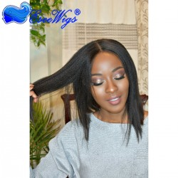 African American 360 Lace Front Short Bob Style full Lace Wigs Yaki Straight