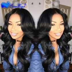 250% Density Wigs Body Wave Pre-Plucked Full Lace Human Hair Wigs Natural Hair Line with Baby Ha ...