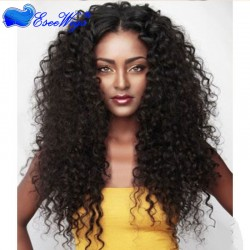 250% Density Wig Deep Wave Pre-Plucked Natural Hair Line Malaysian Lace Wigs with Baby Hair for  ...