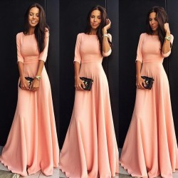 Elegant Chiffon Half-sleeve A-line Jewel Prom Dress_Prom Dresses 2017_Prom Dresses_Special Occas ...
