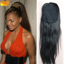 2017 new style 100 Human Hair Ponytails 7A Brazilian Virgin Hair afro kinky curly Ponytail Hair  ...