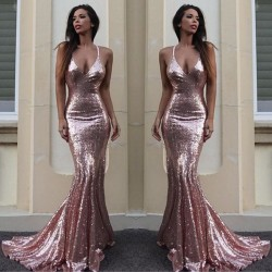 Mermaid Sequins V-Neck Gorgeous Sequins Prom Dress_Prom Dresses 2017_Prom Dresses_Special Occasi ...