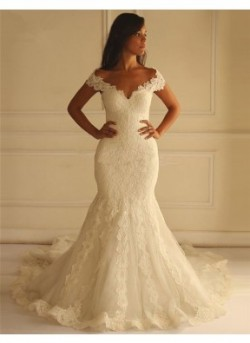Mermaid/Trumpet Lace Wedding Dress With Lace