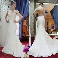 Günstige Hochzeitskleider Spitze Meerjungfrau Brautkleid Online Bestellen