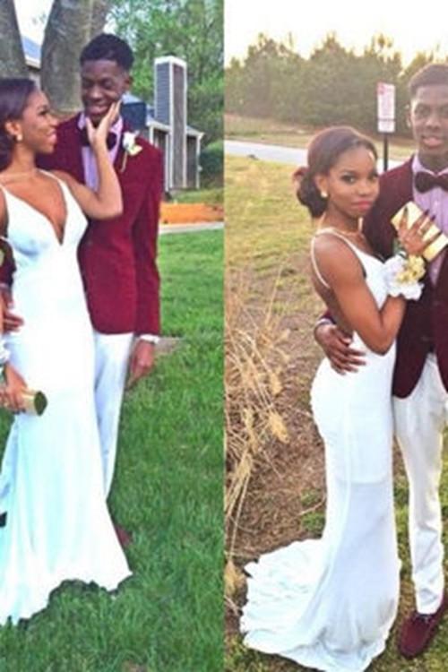 White wedding dresses.