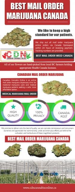 Canadian Mail Order Marijuana