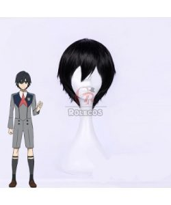 Buy DARLING in the FRANXX Hiro Black Anime Cosplay Wigs FOR SALE – RoleCosplay.com
