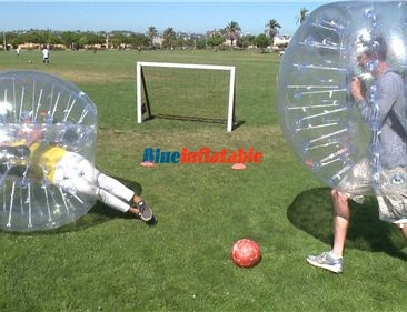 Blue Inflatable: bubble ball soccer, bubble tent, airtrack mat, zorb ball, water ball, archery tags