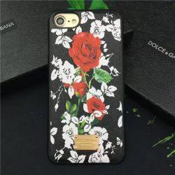 iphone8/7s ケース カバーDolce&Gabbana最新7Plus/6sエスニック花柄バラ薔薇ローズ ドルチェ&ガッ ...