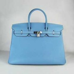 Hermes Kelly 35cm Togo Leather Bags Light Blue hermes-birkinbags.com