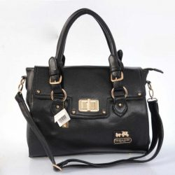 Coach Logo Monogram I83O7T Two-Piece Satchel In Black coachoutletonlinesale.net