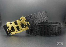 Hermes Quizz Belts In Black Epsom Calfskin And Silver Gold Metal Buckle hermesbelt.us.com