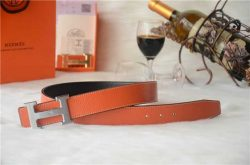 Hermes H au Carre Belts Black Ostrich Leather With Silver Metal Buckle hermesbelt.us.com