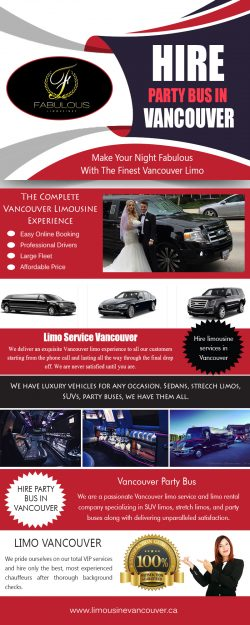 Hire Party Bus inVancouver