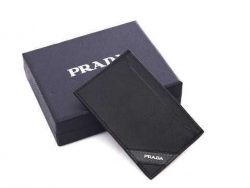 Prada Leather 4B400 Long Wallets Black prada-handbagsonline.com