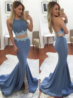 Two Piece Prom Dresses Online, Cute 2 Piece Prom Gowns For Cheap