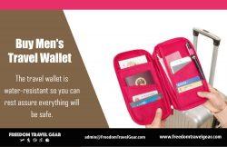 Buy Men's Travel Wallet | https://www.freedomtravelgear.com/