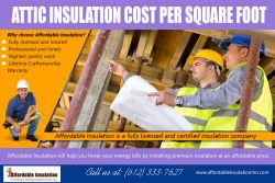Attic Insulation Cost Per Square Foot | affordableinsulationmn.com
