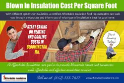 Blown In Insulation Cost Per Square Foot | affordableinsulationmn.com
