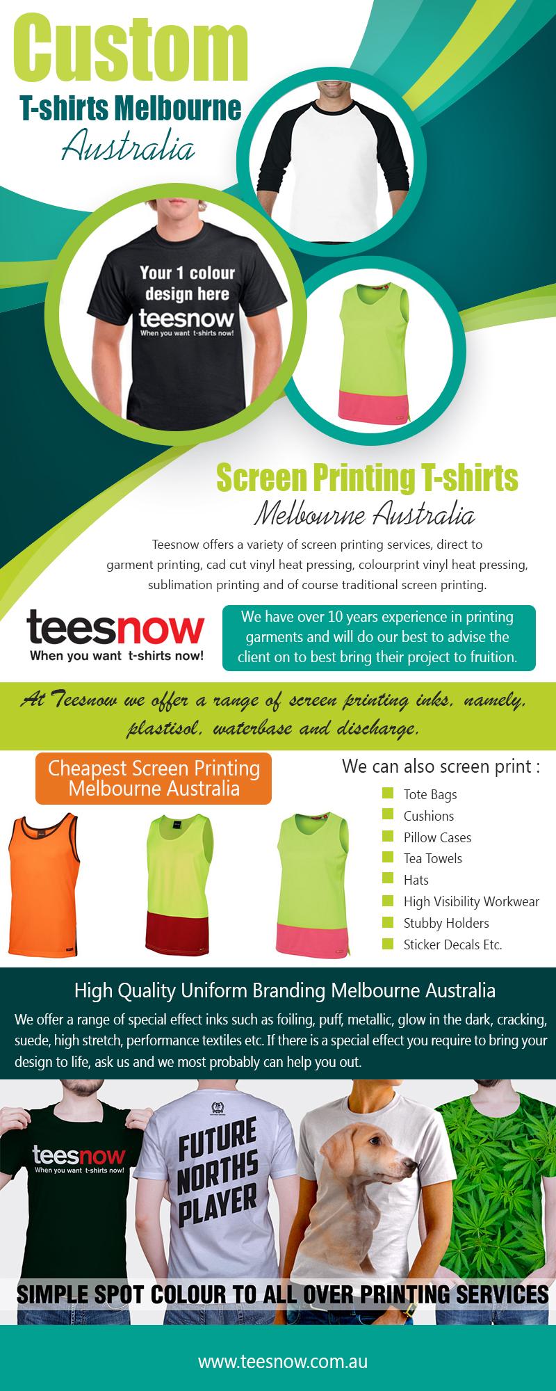 Custom T-Shirts Melbourne https://www.teesnow.com.au/
