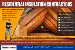 Residential Insulation Contractor | affordableinsulationmn.com